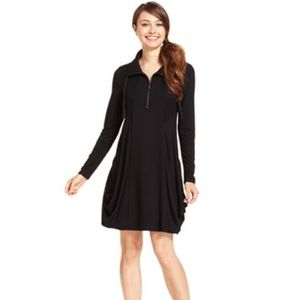 Kenzie Long Sleeve Dress with Zipper Neck